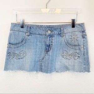 Jordache jean skirt mini skirt